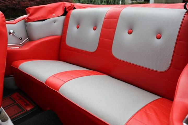 1957 Chevrolet Bel Air Convertible Back Side Seating