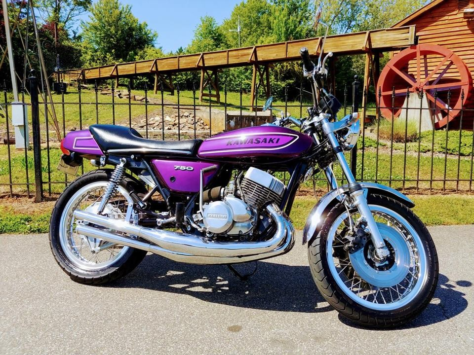 1975 Kawasaki 750 H2 : Vintage Motorcycle For Sale : The